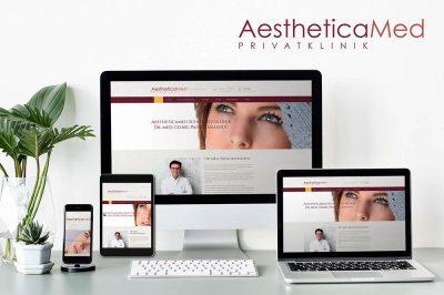 Website der AestheticaMed Schönheitsklinik Dr. med Georg Papathanassiou - aestheticamed.clinic