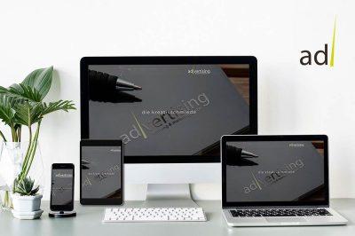 Unsere eigene Website - advertising21.design